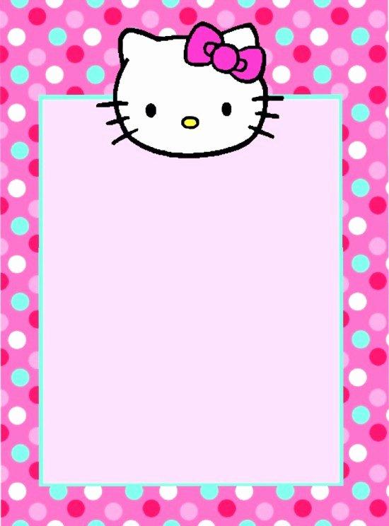 Hello Kitty Invitation Template Best Of Free Hello Kitty Invitation Template