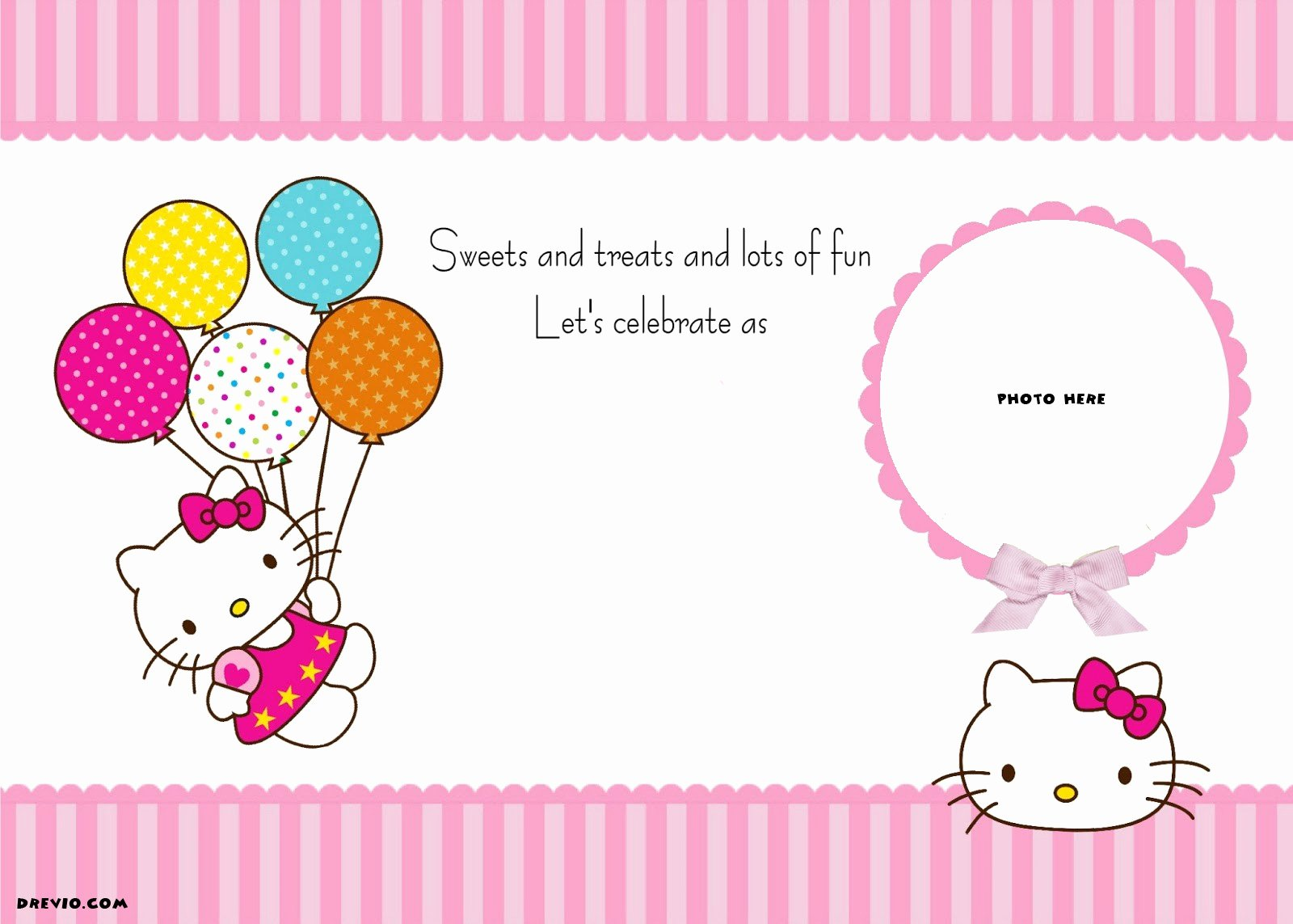 Hello Kitty Invitation Template Best Of Free Personalized Hello Kitty Birthday Invitations