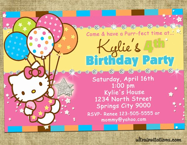 Hello Kitty Invitation Template Best Of Hello Kitty Birthday Invitations Ideas – Bagvania Free