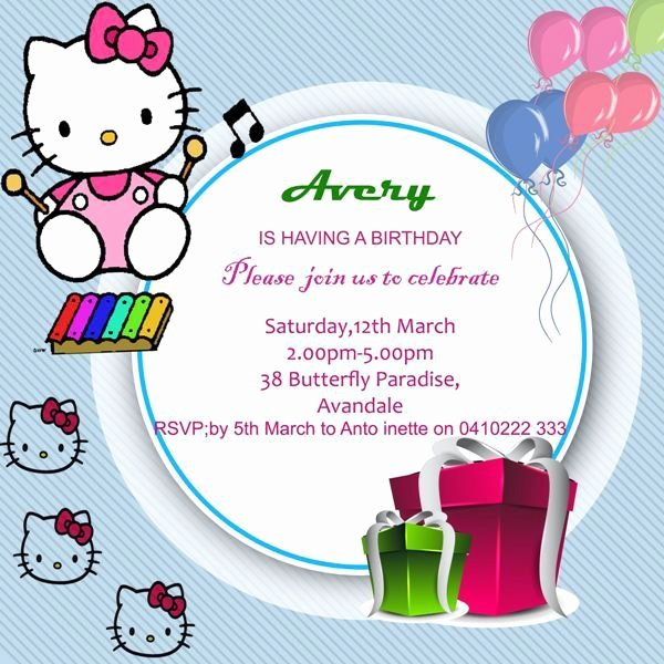 Hello Kitty Invitation Template Elegant 1000 Ideas About Hello Kitty Invitations On Pinterest