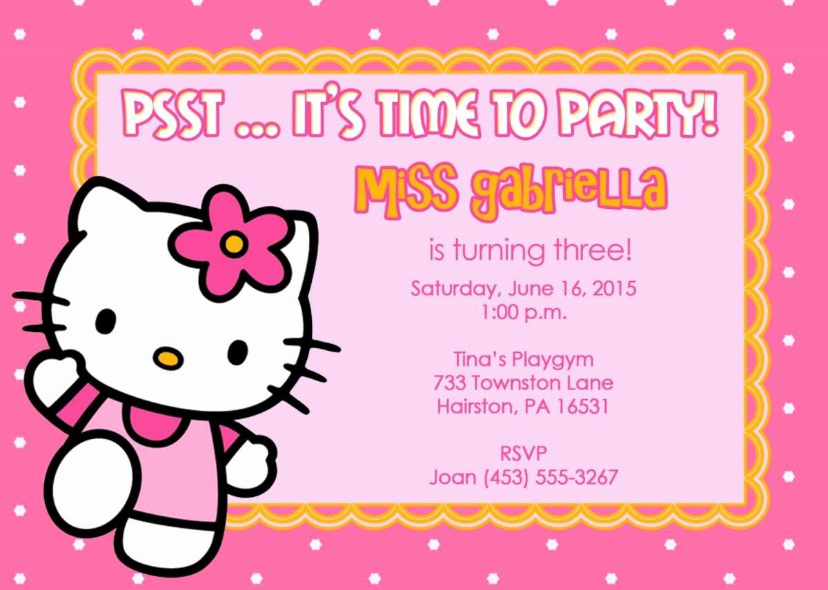 Hello Kitty Invitation Template Elegant 40th Birthday Ideas Birthday Invitation Templates Hello