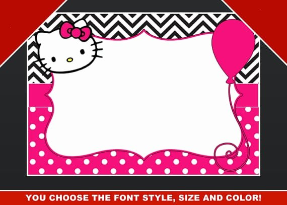 Hello Kitty Invitation Template Fresh Editable Hello Kitty Birthday Template Invitation