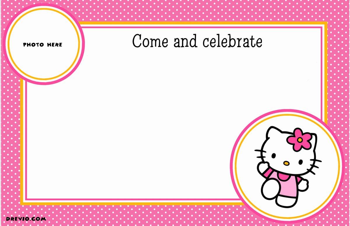 Hello Kitty Invitation Template Inspirational Free Personalized Hello Kitty Birthday Invitations