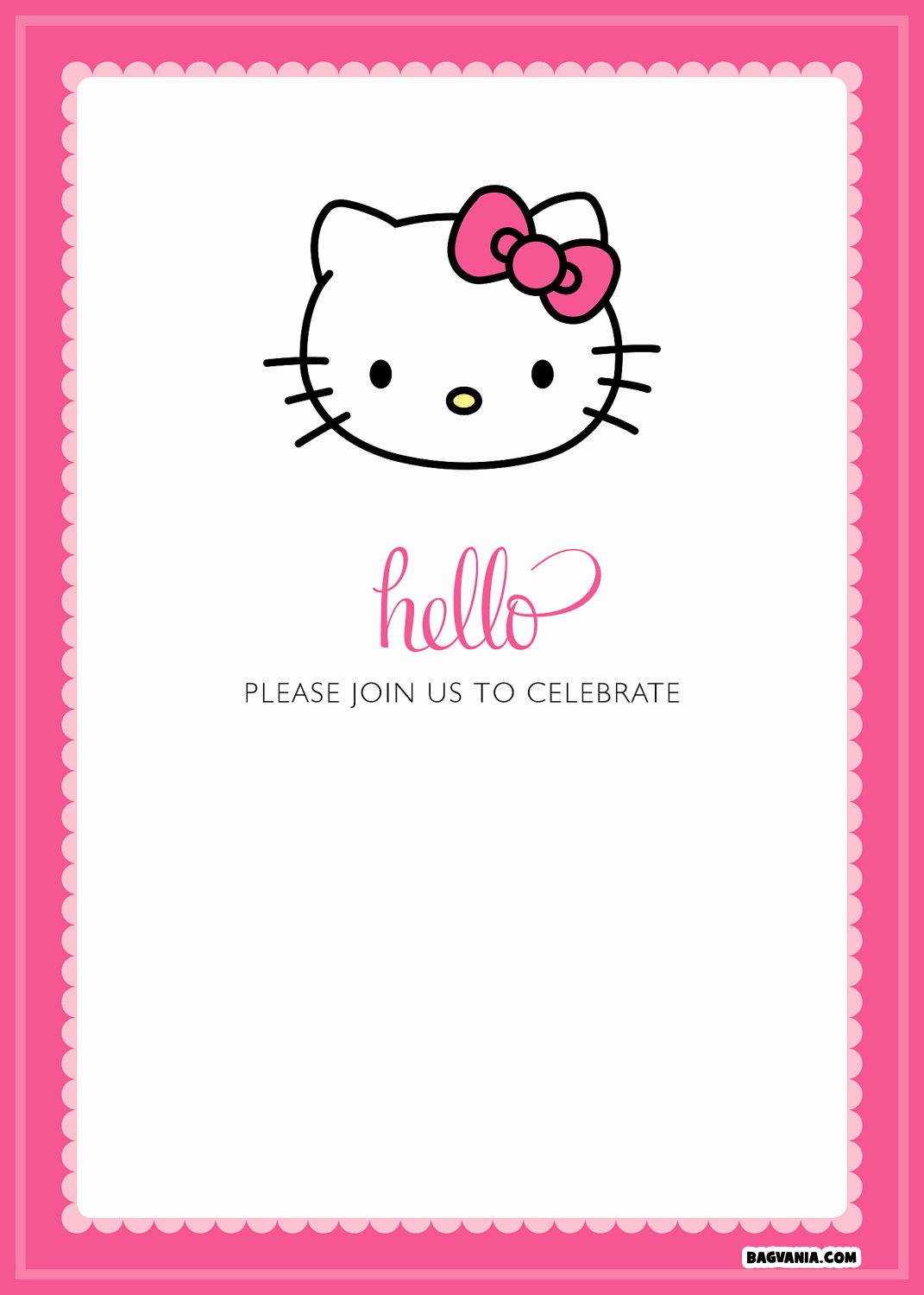 Hello Kitty Invitation Template Inspirational Free Printable Hello Kitty Birthday Invitations – Bagvania