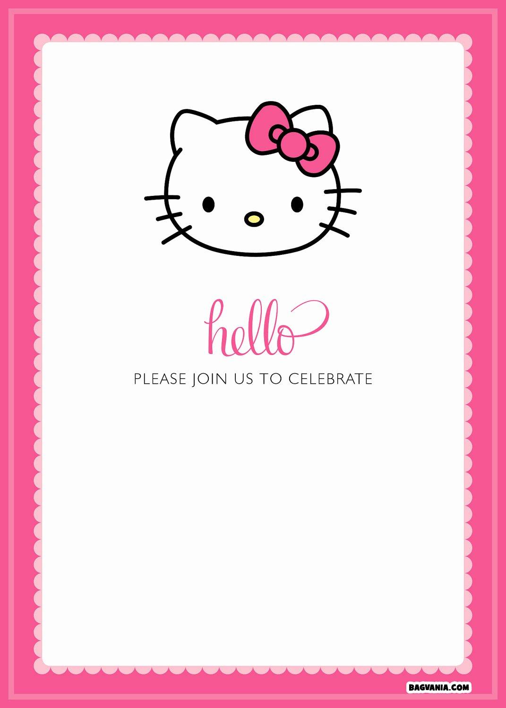 Hello Kitty Invitation Template Inspirational Free Printable Hello Kitty Birthday Invitations – Bagvania