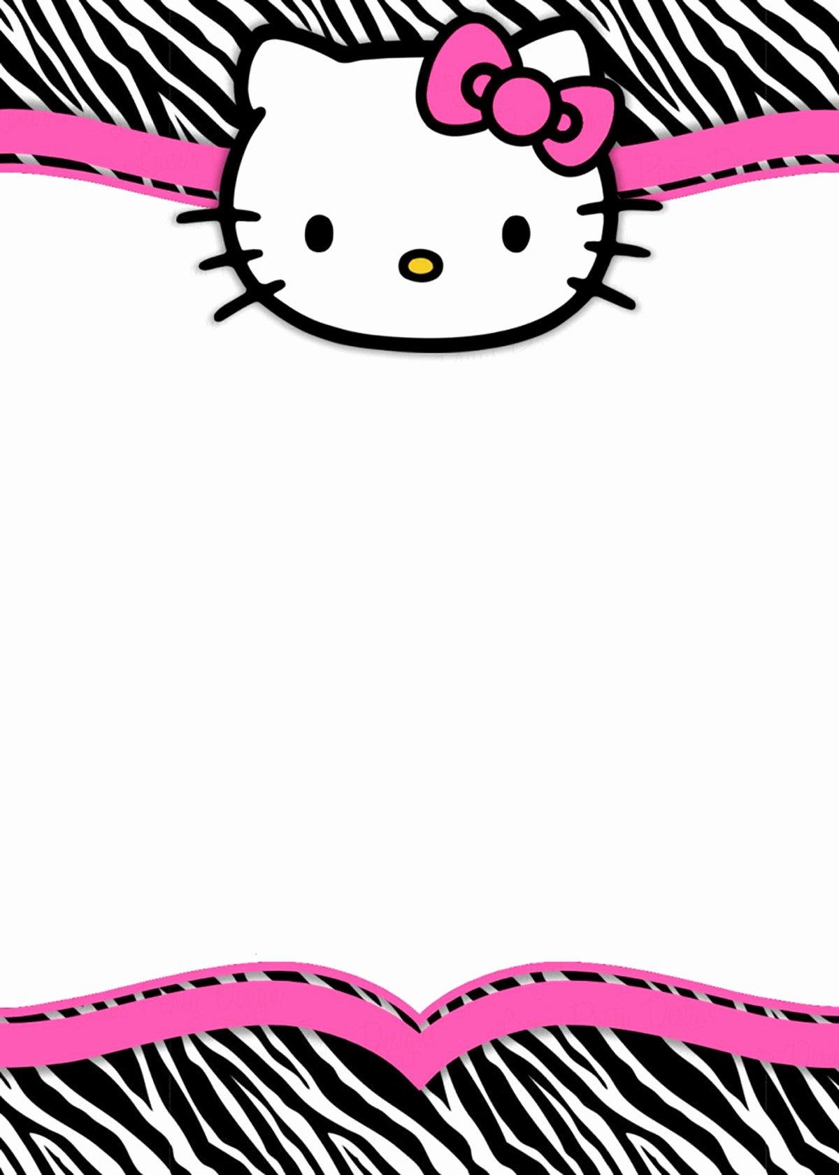Hello Kitty Invitation Template Inspirational Hello Kitty Free Printable Invitation Templates