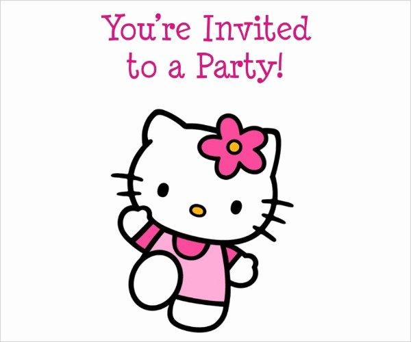 Hello Kitty Invitation Template Lovely 45 Birthday Invitation Templates Psd Ai