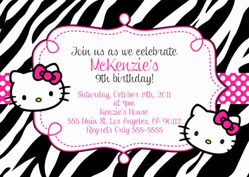 Hello Kitty Invitation Template Luxury Hello Kitty Birthday Invitations Free Invitation Template