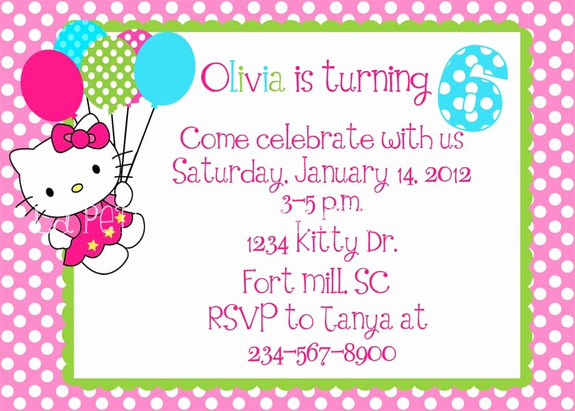 Hello Kitty Invitation Template New Free Hello Kitty Invitation Template
