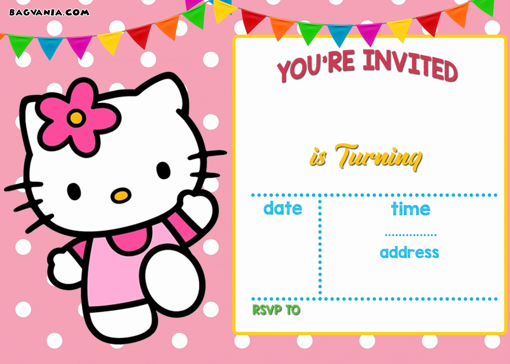 Hello Kitty Invitation Template New Free Hello Kitty Invitation Templates