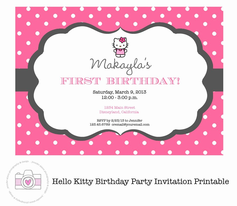 Hello Kitty Invitation Template New Hello Kitty Invitations Printable