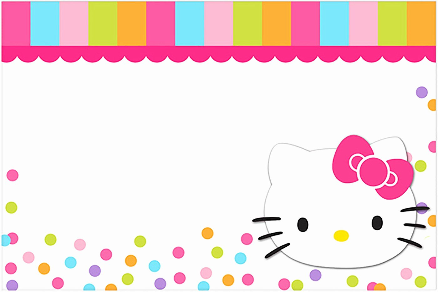 Hello Kitty Invite Template Beautiful Hello Kitty Free Printable Invitation Templates
