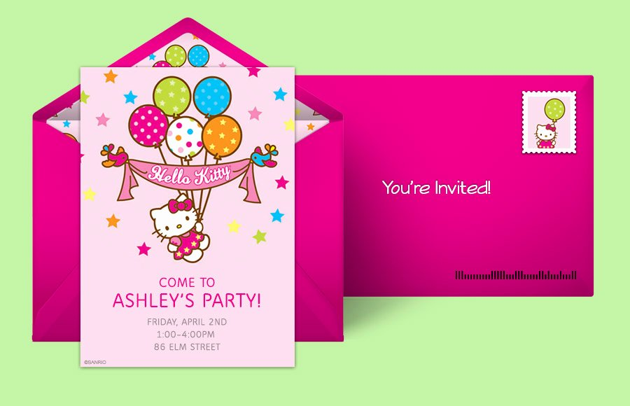Hello Kitty Invite Template Elegant Free Hello Kitty Invitations Hello Kitty Line
