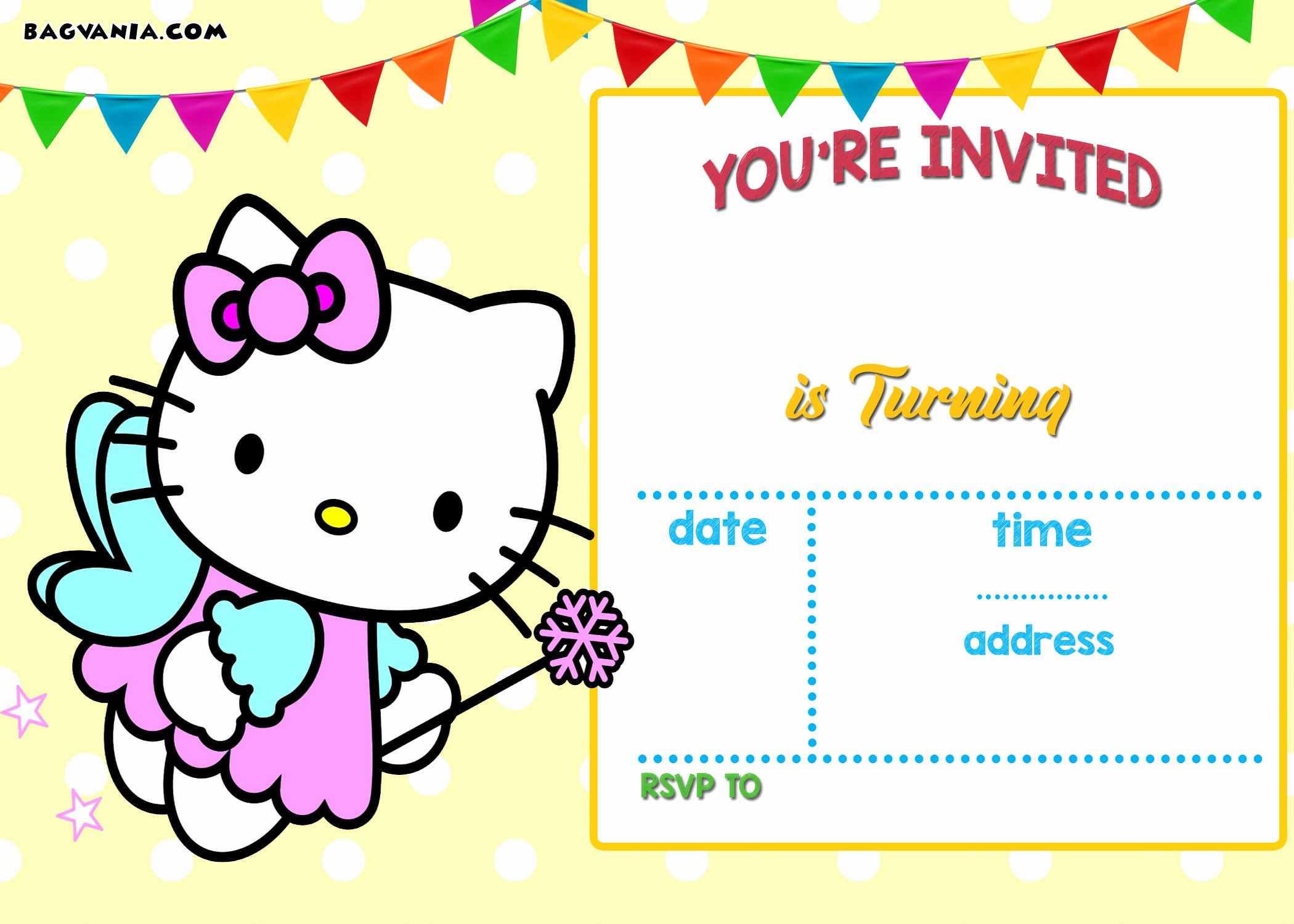 Hello Kitty Invite Template Luxury Free Printable Hello Kitty Birthday Invitation Wording