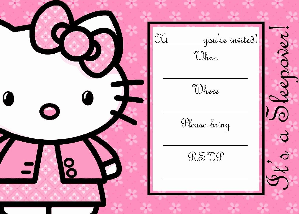 Hello Kitty Invite Template Luxury Hello Kitty Invitation Blank Template