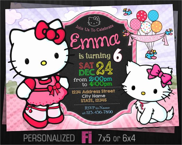 Hello Kitty Invite Template Unique 11 Hello Kitty Invitations Word Psd Indesign