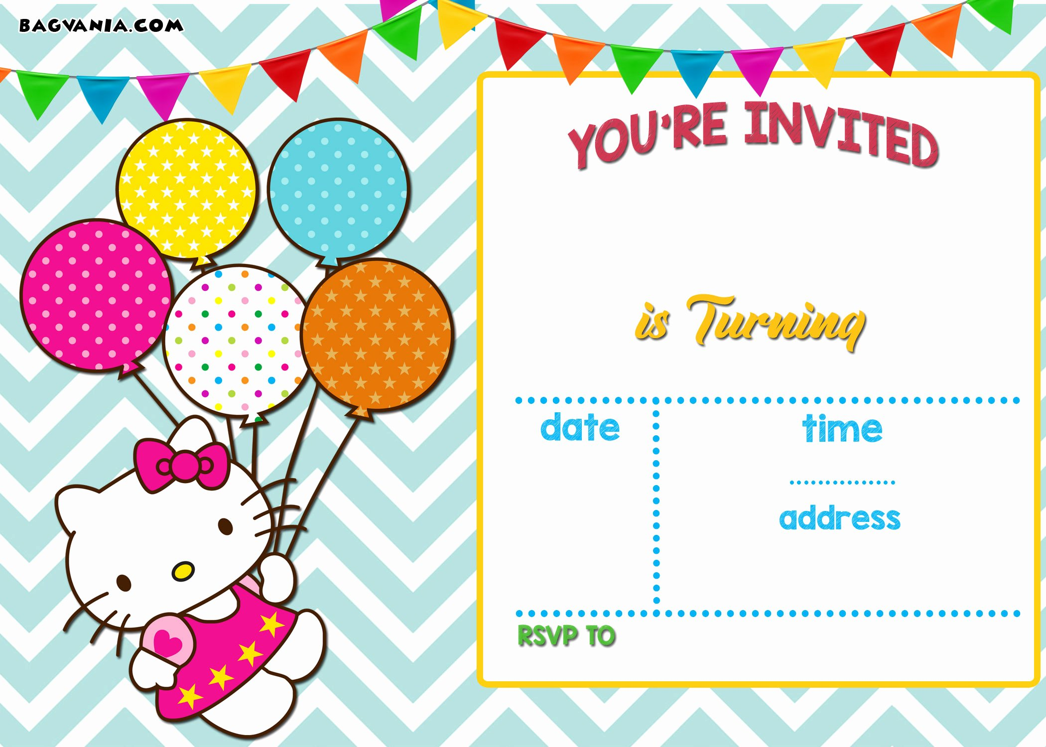 Hello Kitty Invite Template Unique Free Personalized Hello Kitty Birthday Invitations