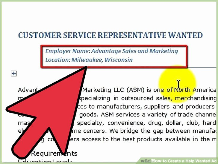 Help Wanted Ad Template Awesome How to Create A Help Wanted Ad 5 Steps with