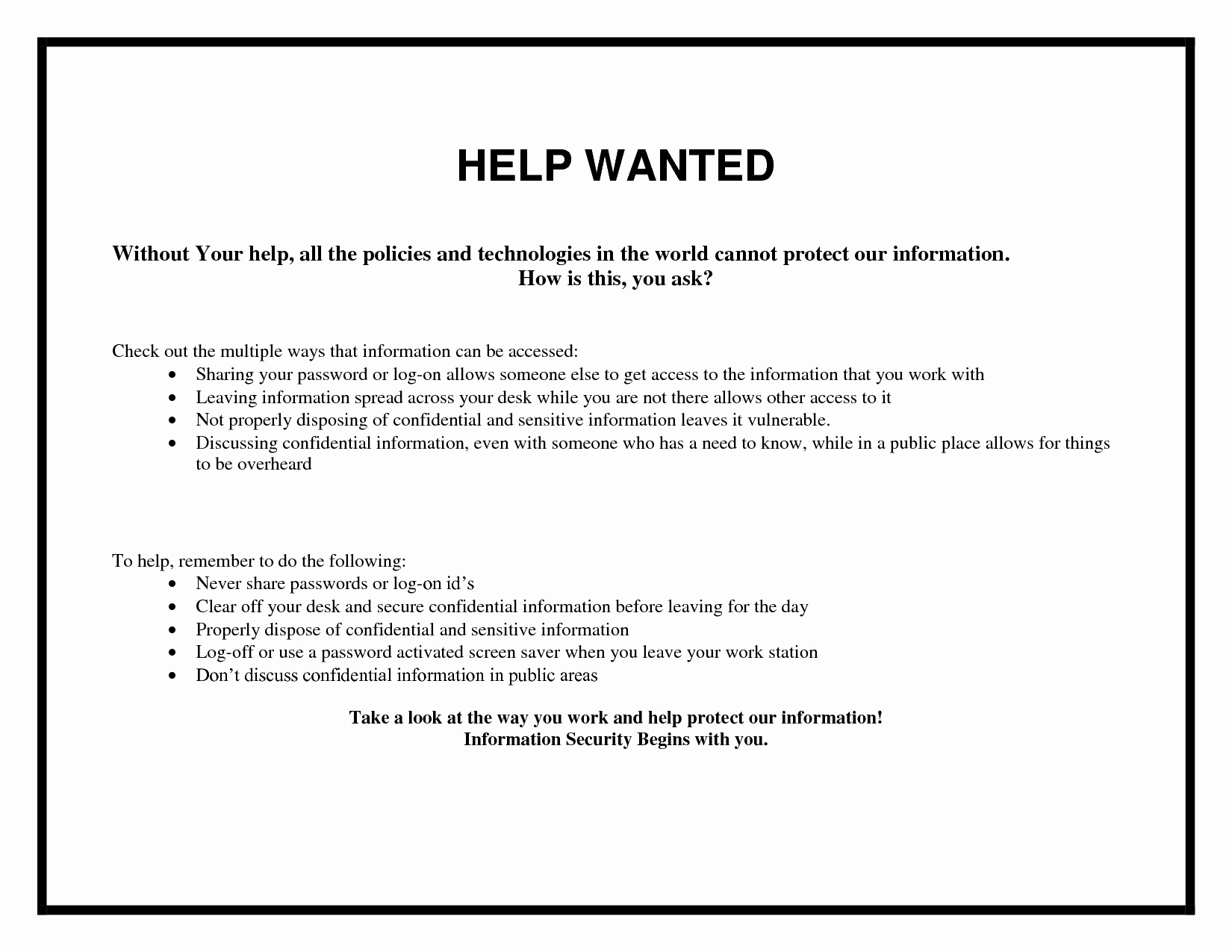 Help Wanted Ad Template Inspirational 5 Best Of Help Wanted Flyer Template Blank Wanted