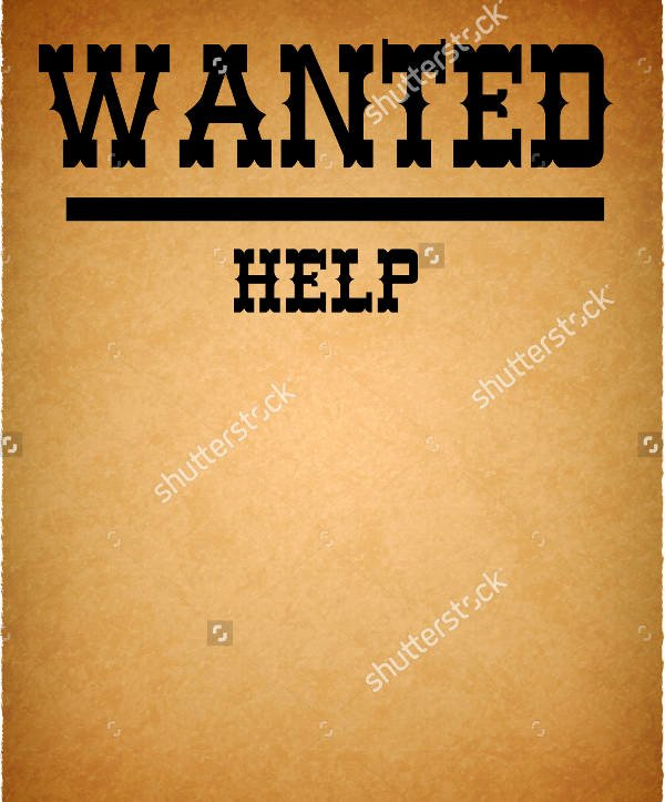 Help Wanted Flyer Template New 30 Downloadable Wanted Posters