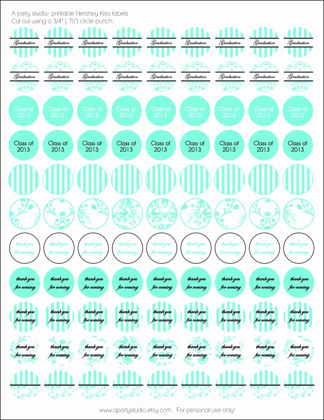 Hershey Kisses Labels Template Beautiful Free Hershey Kiss Stickers for Graduation Class Of 2013