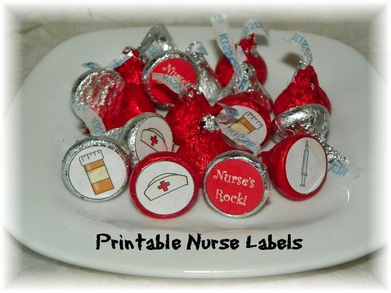 Hershey Kisses Labels Template Fresh Nurse Printable Hershey Kiss Labels Instant Download From