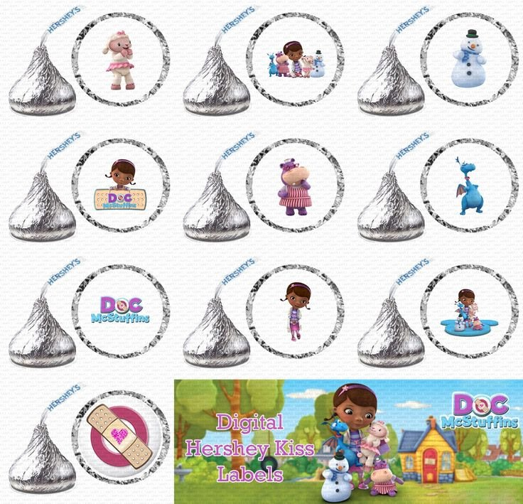 Hershey Kisses Labels Template Inspirational 49 Best Images About Birthday Doc Mcstuffins On