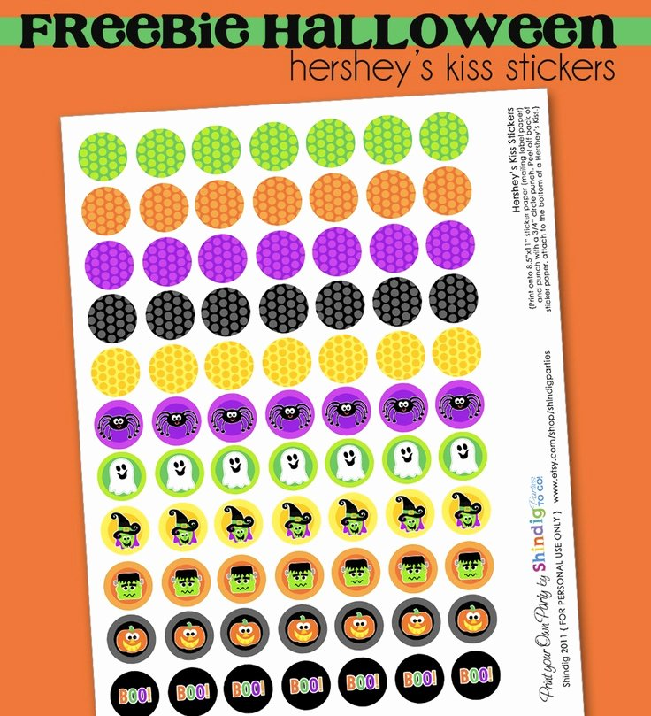 Hershey Kisses Labels Template Luxury Free Halloween Party Printables – Dress Up Your Party