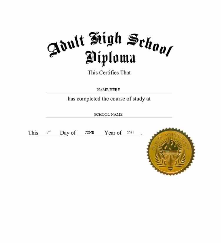 High School Diploma Template Best Of 30 Real & Fake Diploma Templates High School College