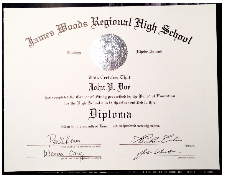 High School Diploma Template Inspirational Fake High School Diplomas & Certificates