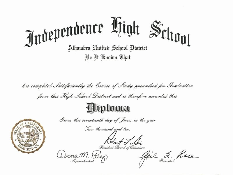 High School Diploma Template Lovely High School Diploma Template