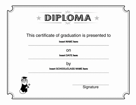 High School Diploma Template Luxury Graduation Certificate Templates