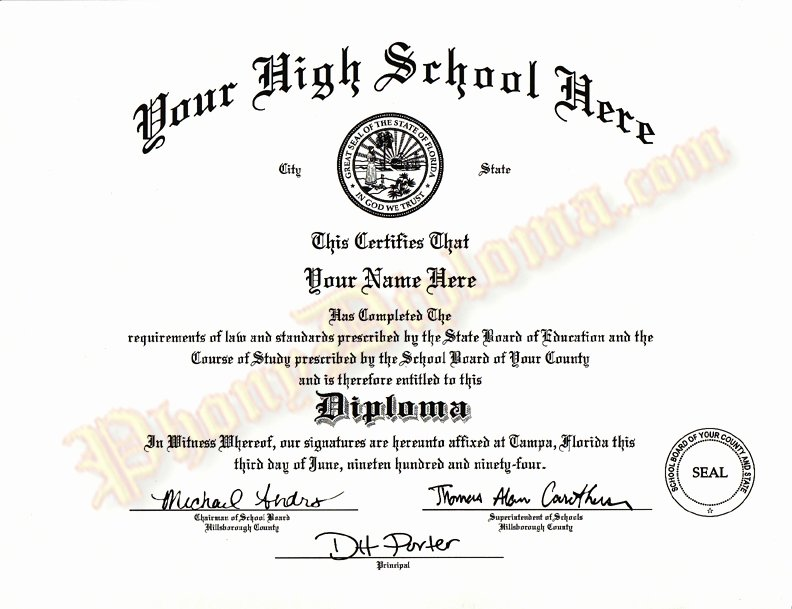 High School Diploma Template Luxury High School Diploma Template