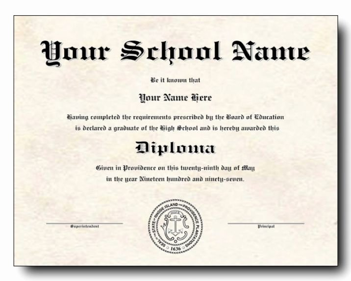 High School Diploma Template New Fake Diploma Template