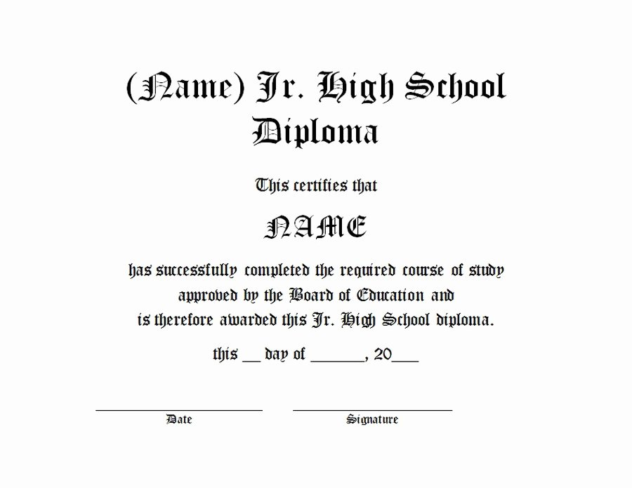 High School Diploma Template Unique Diploma Free Templates Clip Art & Wording