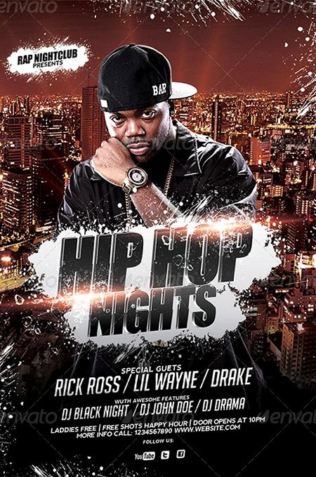 Hip Hop Flyer Template Awesome Hip Hop Flyer Templates 89 Best Print Templates