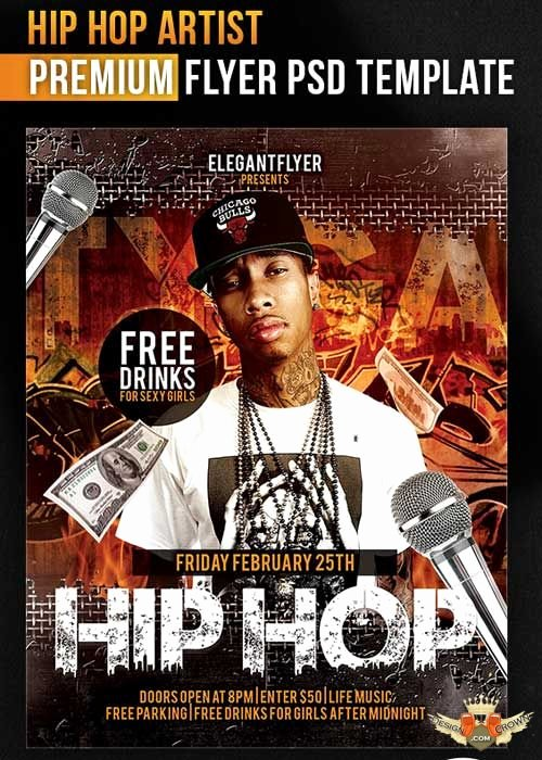 Hip Hop Flyer Template Beautiful Hip Hop Great Artist Flyer Psd Template Cover