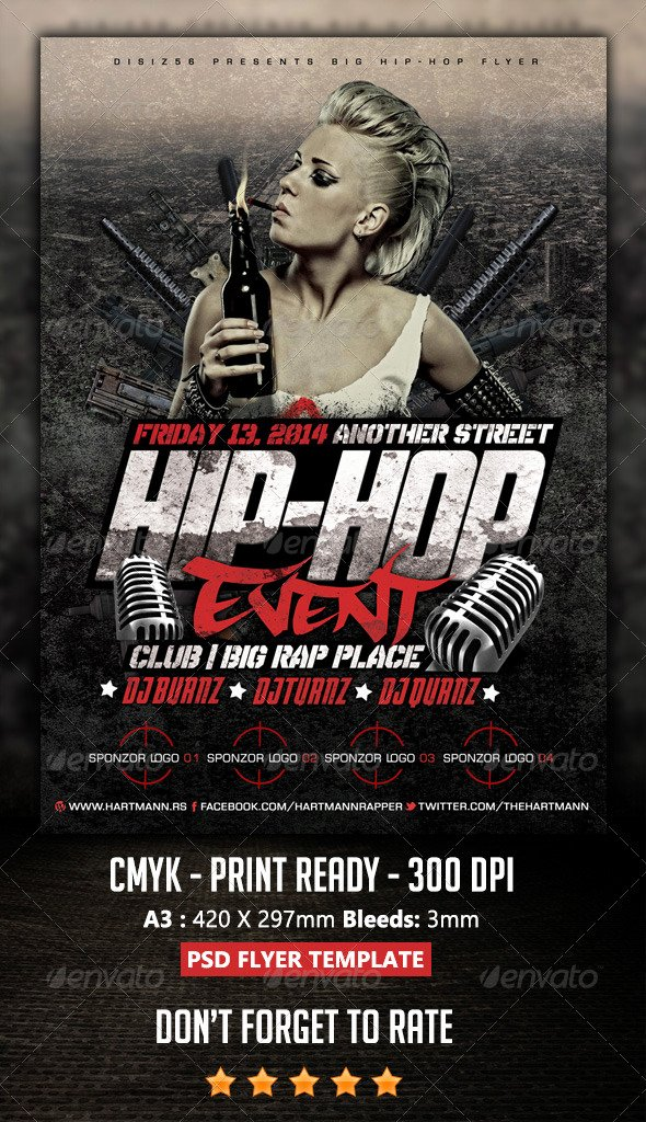 Hip Hop Flyer Template Best Of Hip Hop Flyer by Hartmanns