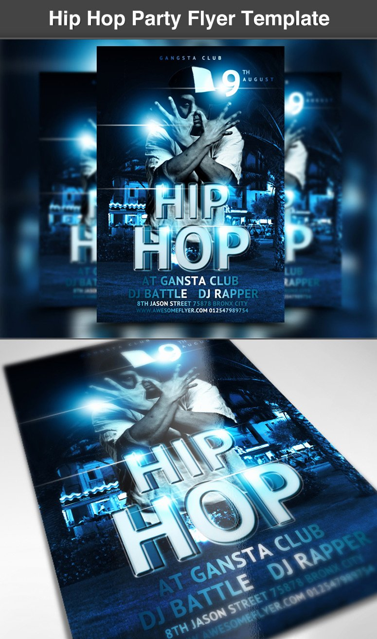 Hip Hop Flyer Template Best Of Hip Hop Party Flyer Template ‹ Psdbucket