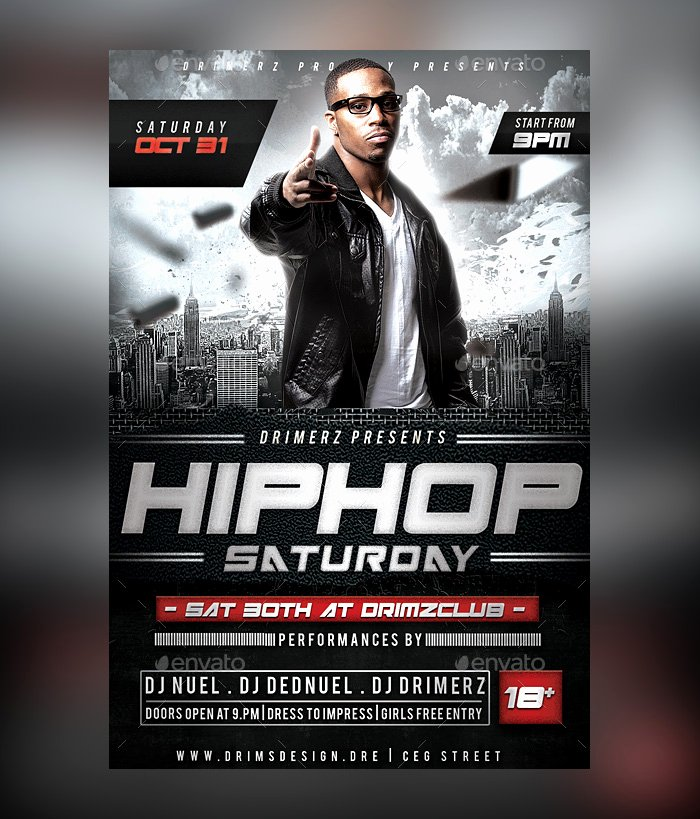 Hip Hop Flyer Template Elegant 28 Hip Hop Flyer Psd Templates Free & Premium Designyep