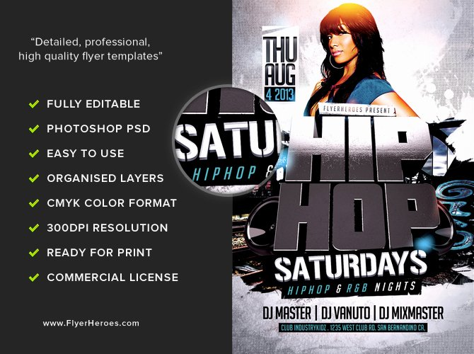 Hip Hop Flyer Template Inspirational 3d Hip Hop Flyer Template Flyerheroes