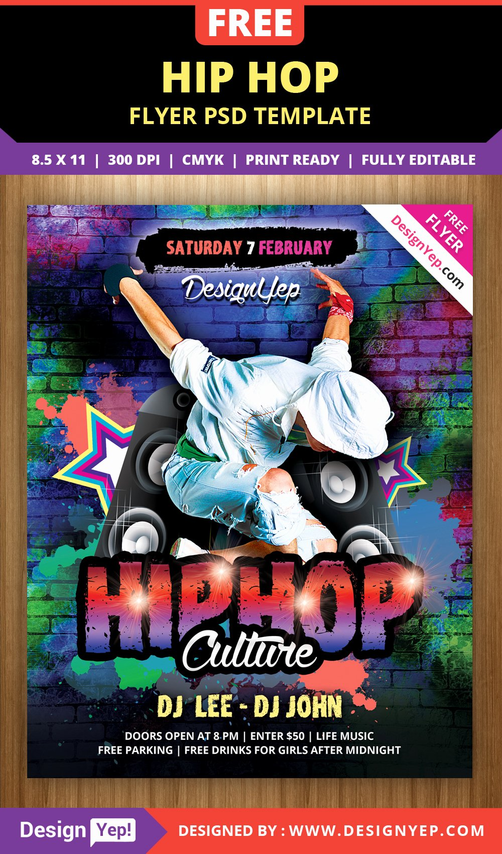 Hip Hop Flyer Template Inspirational Free Hip Hop Flyer Psd Template Designyep