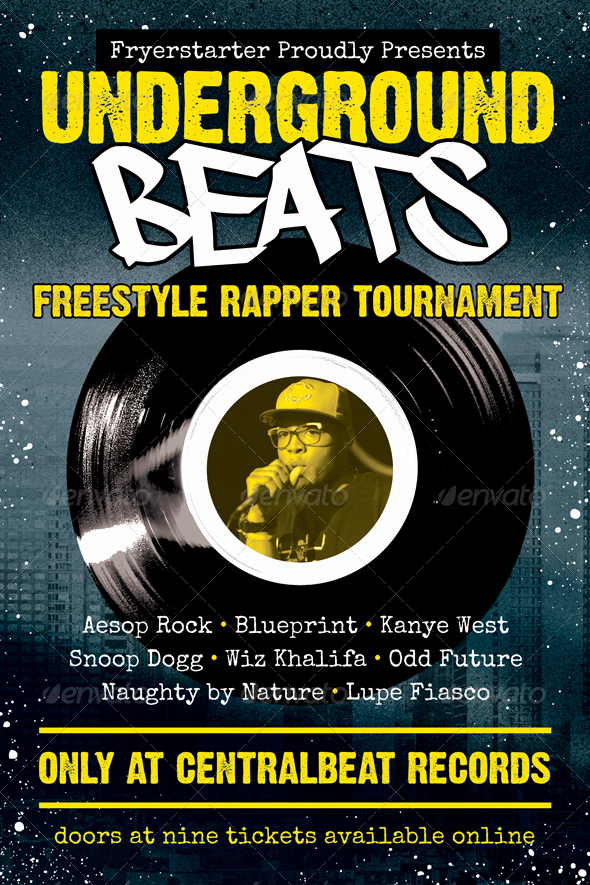 Hip Hop Flyer Template Inspirational Underground Beats Hip Hop Flyer Template by Furnace