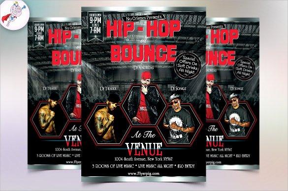 Hip Hop Flyer Template Lovely 22 Music Flyer Templates
