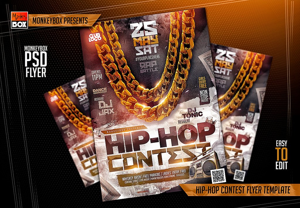 Hip Hop Flyer Template Luxury Hip Hop Contest Flyer Template by andydreamm On Deviantart