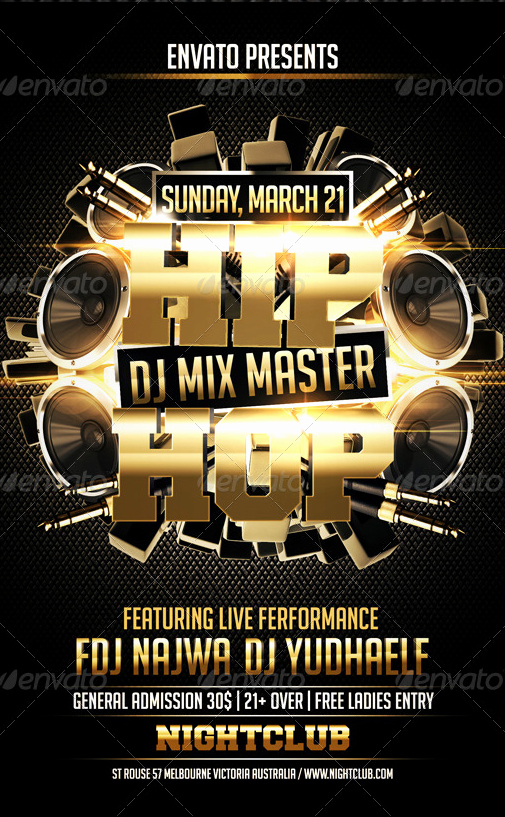 Hip Hop Flyer Template Luxury Hip Hop Flyer Template Party Flyer Templates for Clubs