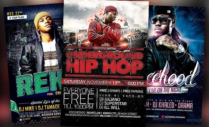 Hip Hop Flyer Template New Download the Best Hip Hop Flyer Templates for Shop