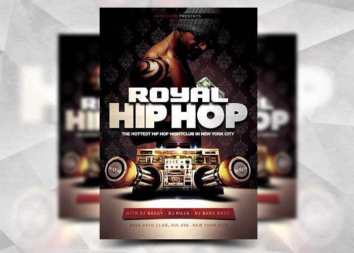 Hip Hop Flyer Template Unique Royal Hip Hop Flyer Template Flyer Templates