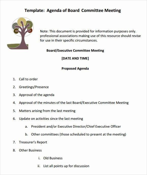 Hoa Meeting Minutes Template Awesome Sample Board Meeting Agenda Template 11 Free Documents