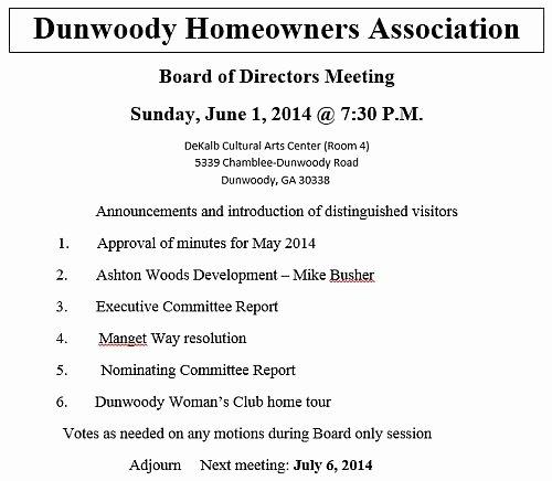 Hoa Meeting Minutes Template Inspirational Heneghan's Dunwoody Blog Sunday S Dunwoody Homeowners